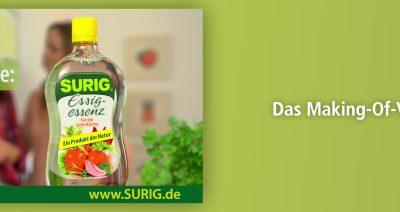 PRODUKTION: SOUNDBRANDING FÜR SURIG ESSIG ESSENZ TV SPOT STARTET IM ZDF